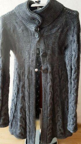Benetton Knitted Coat dark grey