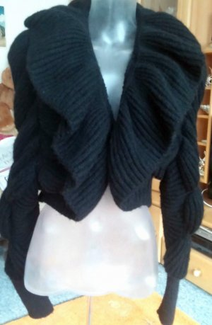 H&M Knitted Bolero black angora wool