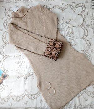 Glamorous Knitted Dress cream-beige