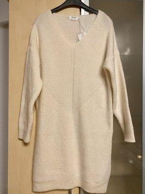 Only Robe en maille tricotées crème-beige clair