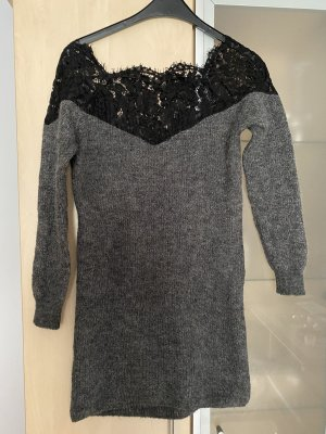 Only Vestido tejido gris-negro