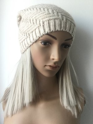 Made in Italy Beanie oatmeal mixture fibre