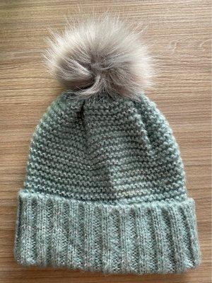 Bonita Sombrero de punto turquesa