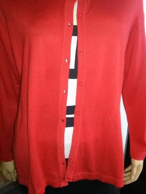 Canda Knitted Vest red mixture fibre