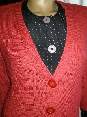 Knitted Vest dark orange polyacrylic