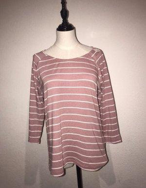 Damen Sweatshirt Pulli rosa weiß gestreift Gr.S Neu