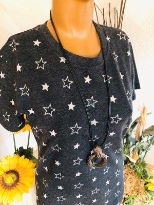 Damen T-Schirt von Sport The Kooples, grau mit Sternen, Gr. S