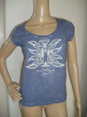 Damen T-Shirt, blau, Gr.S, von Napapijri (122-AE)