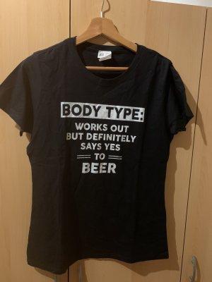 Damen T-Shirt Gr M Schwarz