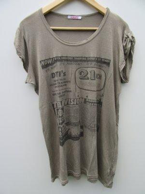 Damen T-Shirt Kontatto braun Gr. M/L
