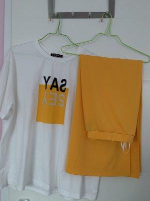 SheIn Costume business blanc-jaune