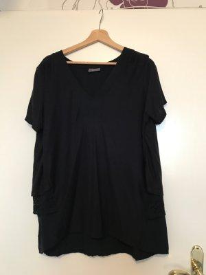 Damen-T-Shirt mit Spitze im Lagenlook