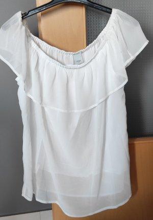 Ichi Koszula typu carmen biały Wiskoza