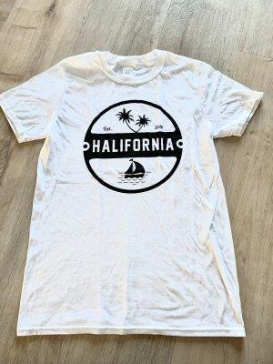 Damen T-Shirt Weiß HALIFORNIA Gr 36/S Baumwolle