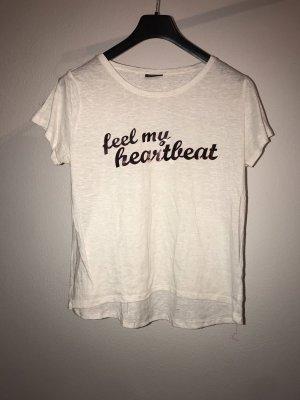 Damen T-Shirt weiß Roségold Gr.46