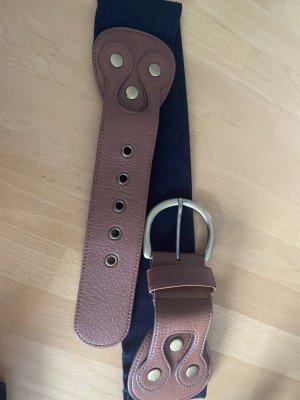 H&M Cintura vita nero-marrone