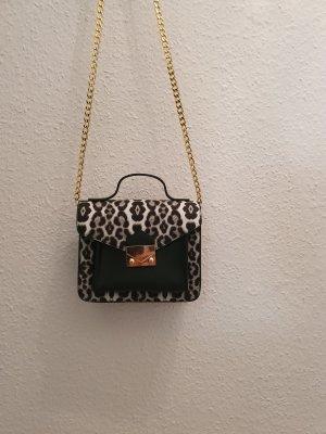 100% Fashion Gekruiste tas zwart-zilver