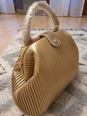Bolso barrel color oro