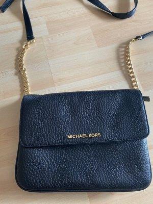 Damen Tasche Umhängetasche schwarz Gold Michael Kors Bedford Leder
