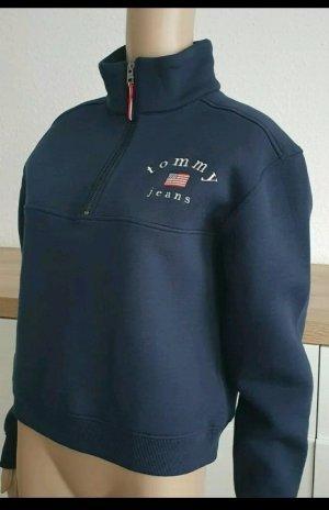 Damen Tommy Jeans Sweatshirt Half Zip Gr.S 36 neu mit Etikett