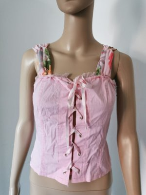 Damen Top Corsagen Style Chiffon Made in Italy rose Größe S