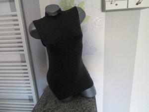 Zenana Outfitters Top con colletto arrotolato antracite Tessuto misto