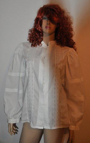 Blouse en dentelle blanc coton
