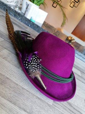 Ohne Wełniany kapelusz ciemny fiolet