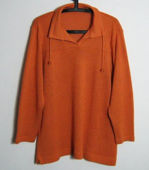 Damen Troyer Pullover Größe 48 Orange