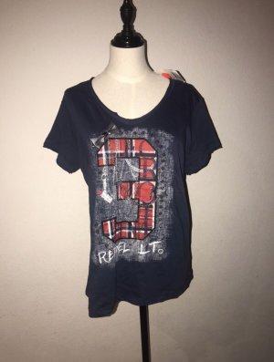 Damen Tshirt dunkelblau mit Details Gr.M Neu