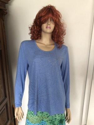 Bianca T-shirt niebieski neonowy
