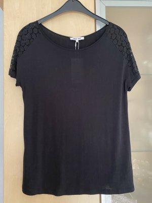 Damen Tshirt Shirt Spitze schwarz Gr 38 Neu mit Etikett