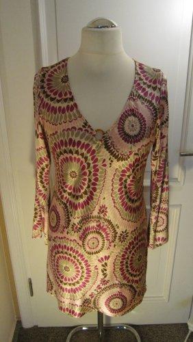 Blusa de túnica multicolor Seda