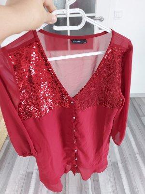 Bodyflirt Lange blouse donkerrood-karmijn