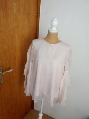 Alba Moda Túnica color plata-rosa