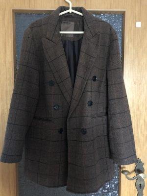 Damen Tweed Blazer oversized Mantel
