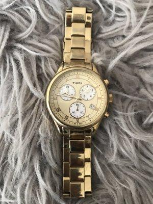 Timex Zegarek z metalowym paskiem złoto