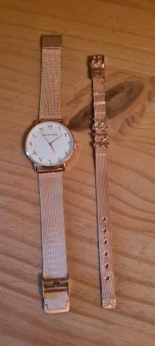 Ohne Reloj con pulsera metálica color rosa dorado