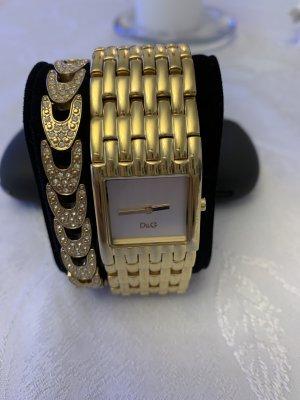 Dolce & Gabbana Horloge met metalen riempje goud