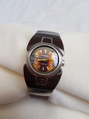 Damen Uhr mir Lederarmband von diesel braun