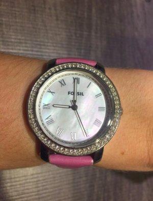 Damen-Uhr mit Leder-Armband von Fossil