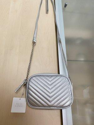 Damen Umhänge Tasche Silber New Look Neu mit Etikett