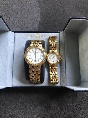 Maurice Lacroix Reloj con pulsera metálica color oro
