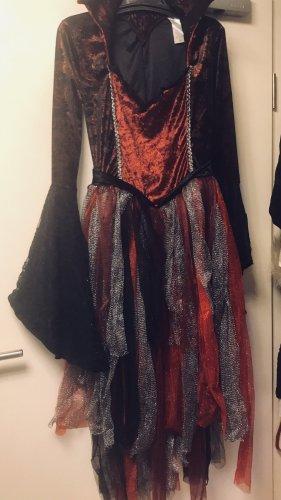 Damen Vamp Kostüm Deluxe Kleid L/XL