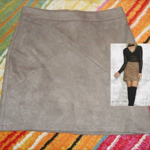 Damen Veloursleder Rock neuwertig Winter Herbst Elegant A-Linie