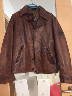 Damen Vintage Belstaff Black Prince Lederjacke M/ L