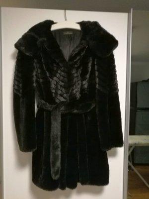 Alfredo Pauly Fake Fur Jacket black fake fur