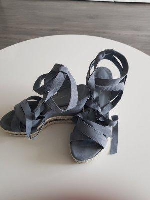Damen Wedges Sandale Blau Größe 38 von Deichmann