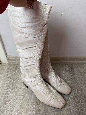 Buty na obcasie biały-w kolorze białej wełny