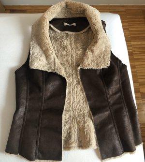 Promod Fake Fur Vest multicolored